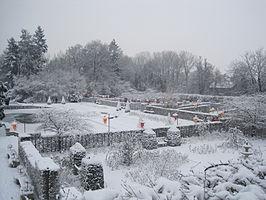 De kasteeltuinen in de winter
