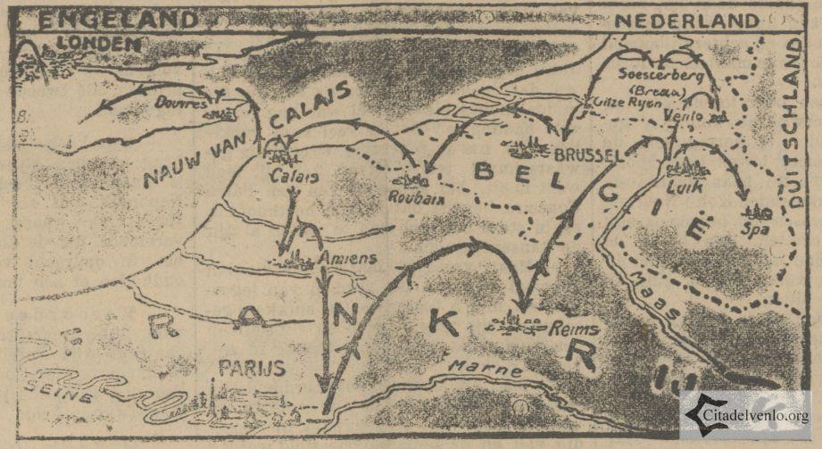 Europese Rondvlucht Bron: Delpher Nieuwe Venlosche courant 24-06-1911